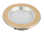 Led Spot Fixture 5W - Frame Color Gold Metallic + Shiny - Milky Shade SMT - Warm Light