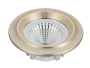 Led Spot Fixture 5W - Frame Color Gold Yellow - Clear Glass COB - Warm Light
