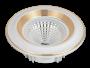 Led Spot Fixture 5W - Frame Color Silver + Gold Matt - Clear Glass COB - White Light