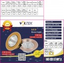 Led Spot Fixture 5W - Frame Color White - Clear Glass COB - Warm Light