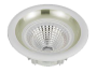 Led Spot Fixture 5W - Frame Color White + Silver -Clear Glass COB - Warm Light