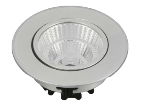 Led Spot Fixture 5W - Frame Color White - Clear Glass COB - White ...