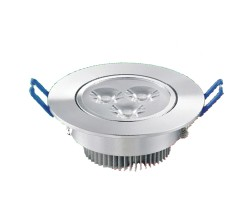 Round Spot Light - Warm White - 3W - Silver Case