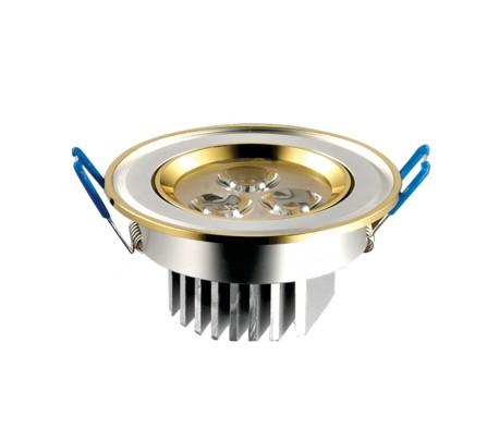 Round Spot Light - Warm White - 3W - Silver Case