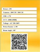 LED Spot Lamp COB 3W - White Light - Value Pack 5 Pcs