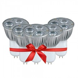 LED Spot Lamp 3W - White Light - Value Pack 5 Pcs