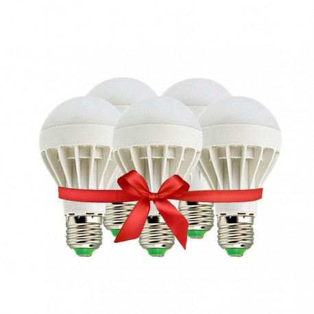 LED Bulb 5W - White - Value Pack 5 Pcs