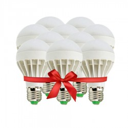 LED Bulb 5W - White - Value Pack 10 Pcs