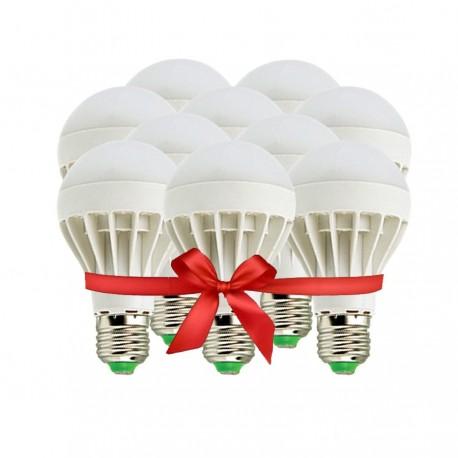 LED Bulb 5W - White - Value Pack 10 Pcs