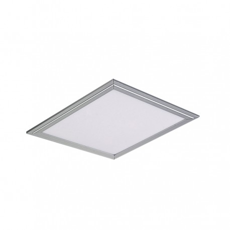 Led Panel Square - Internal - 36W - Day Light - Frame Silver - Size (59.5x59.5) cm.