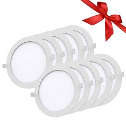 LED Panel 18W - Round Internal - White Light - Value Pack 10 Pcs