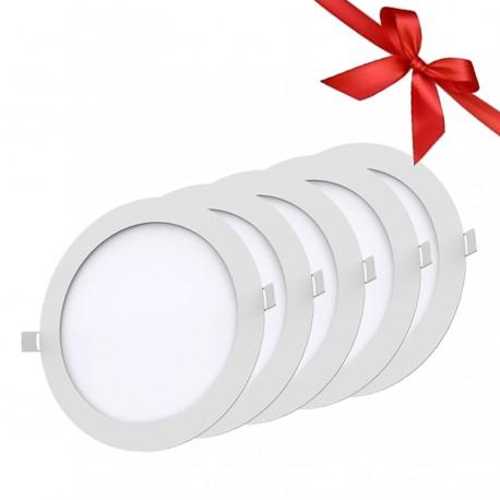 LED Panel 18W - Round Internal - Warm Light- Value Pack 5 Pcs