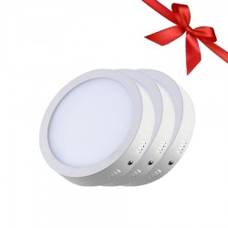 LED Panel 18W - Round External - White Light - Value Pack 3 Pcs