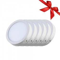 LED Panel 18W - Round External - White Light - Value Pack 6 Pcs