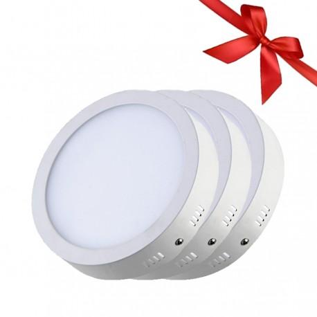 LED Panel 24W - Round External - White Light - Value Pack 3 Pcs