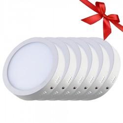 بانل ليد دائرى لطش خارجى 24 وات اضاءة بيضاء - عبوة توفير 6 قطع