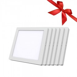 LED Panel 18W - Square External - White Light - Value Pack 6 Pcs