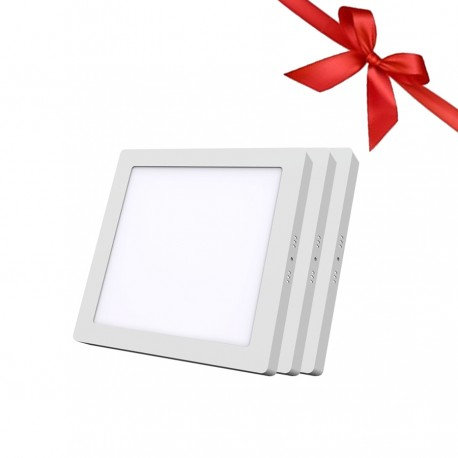 LED Panel 24W - Square External - White Light - Value pack 3 Pcs