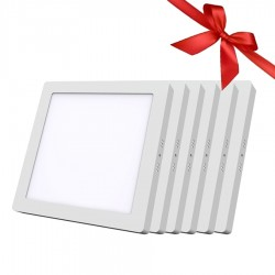LED Panel 24W - Square External - White Light - Value pack 6 Pcs