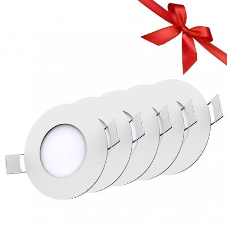 LED Panel 3W - Round Internal - White Light