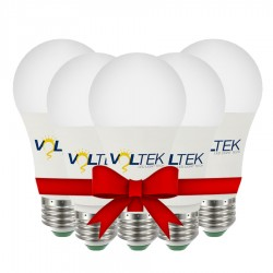 LED Bulb 9W - White - Value Pack 5 Pcs