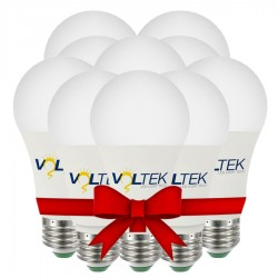 LED Bulb 9W - White - Value Pack 10 Pcs