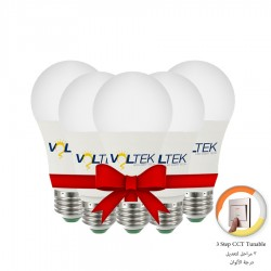 LED Bulb 9W - 3 Lighting Colors-Value Pack 5 Pcs