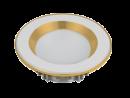 Led Spot Fixture 5W - Frame Color White + Red Gold - Milky Shade SMT - White Light