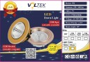 Led Spot Fixture 5W - Frame Color White + Yellow Gold - Milky Shade SMT - Warm Light