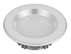 Led Spot Fixture 5W - Frame Color White + Silver - Milky Shade SMT - Warm Light