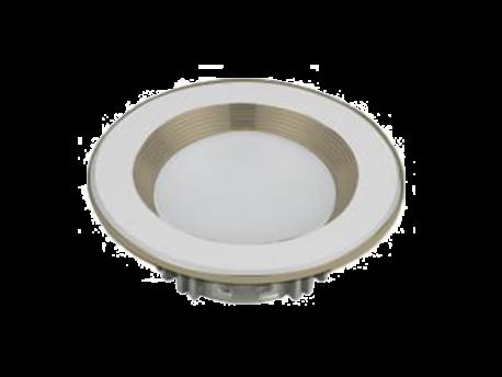 Led Spot Fixture 5W - Frame Color Silver Metallic + Shiny - Milky Shade SMT - White Light