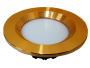 Led Spot Fixture 5W - Frame Color Gold Shiny - Milky Shade SMT - White Light