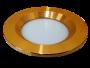 Led Spot Fixture 5W - Frame Color Gold Shiny - Milky Shade SMT - Warm Light