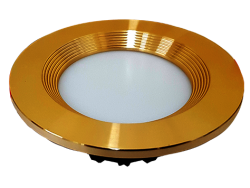 Led Spot Fixture 5W - Frame Color Gold Shiny - Milky Shade SMT - Warm Light