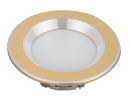 Led Spot Fixture 5W - Frame Color Gold Metallic + Shiny - Milky Shade SMT - White Light